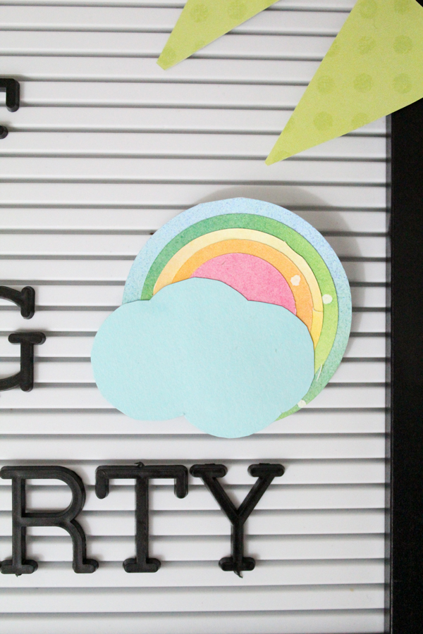 spring letter board accessories rainbow cloud