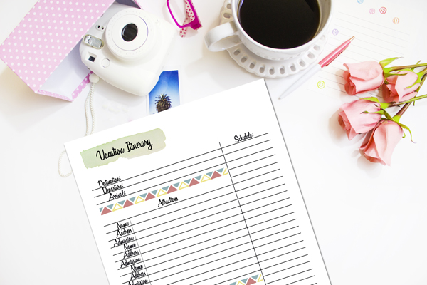 Summer is peak time for planning a vacation, but there's never really a bad time to take a break and get out of town. Organize your next trip with this printable vacation planner.