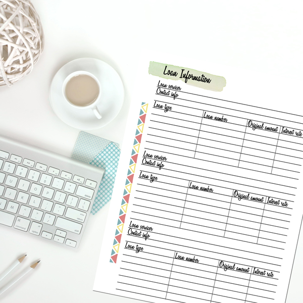 Student loans can be confusing and stressful. But you don't have to be overwhelmed. It's time to get organized and create a payment plan with this printable student loan planner.
