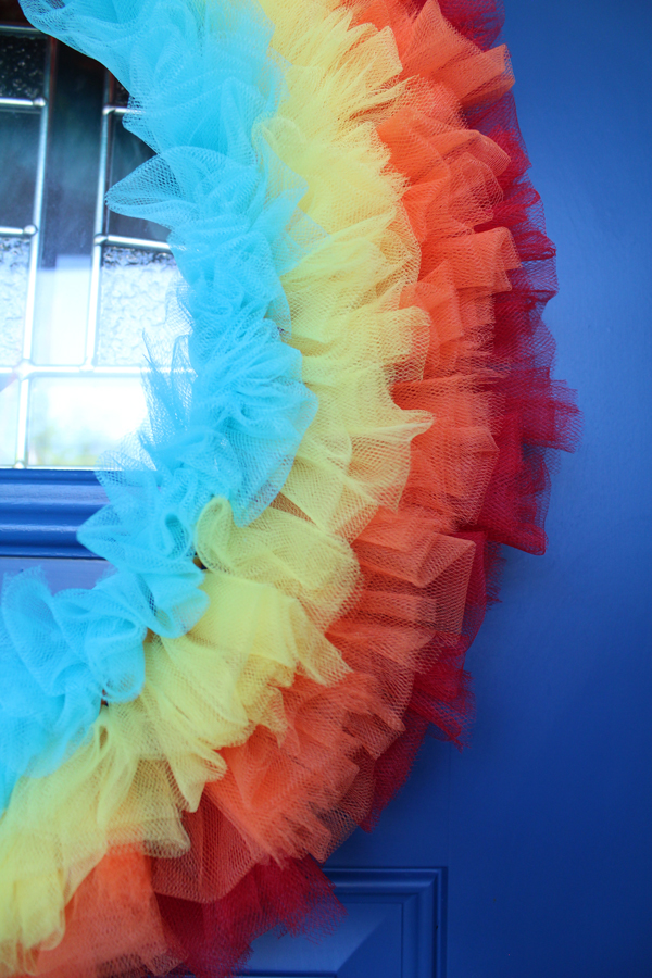 details of tulle wreath