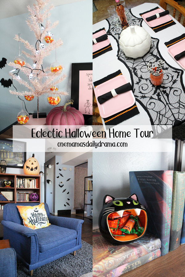 collage of Halloween home decor photos