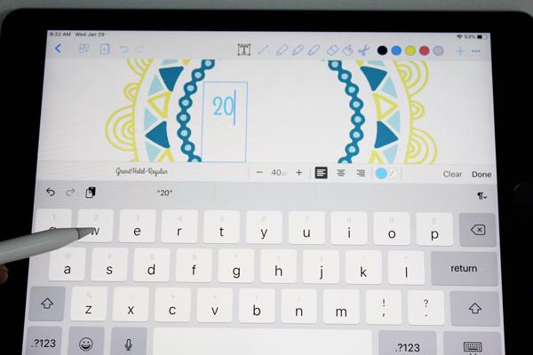 """typing """"2020"""" on an ipad screen"""