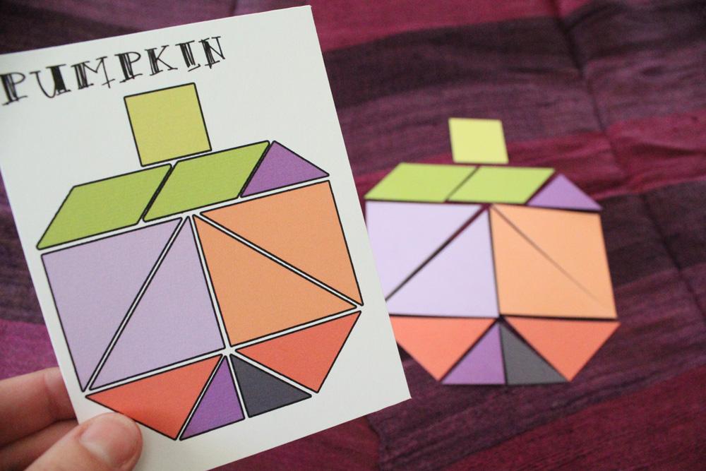 fun printable halloween tangrams kids activity